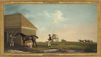"Stubbs's 1765 canvas ""Gimcrack on Newmarket Heath, With a Trainer, a Stable-Lad, and a Jockey"" sold for $36 million at Christie's in London on July 5."