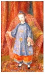 William J.  Glackens, Artist's Daughter in Chinese Costume, 1918, oil on canvas, NSU Art Museum Fort Lauderdale; gift of Sansom Foundation.