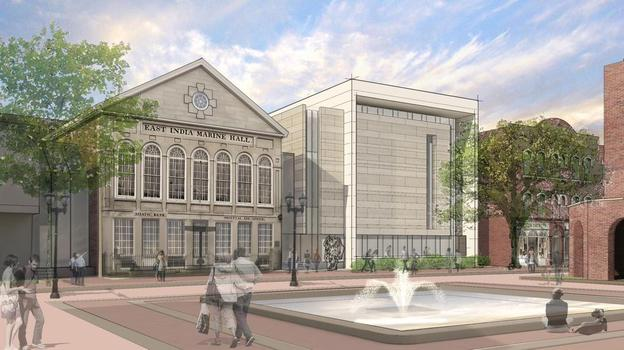 Rendering of the expanded Peabody Essex Museum.