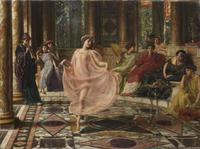"Offered at Bonhams on July 10, 2013, is ""The Ionian Dance"" by Sir Edward John Poynter.  Estimate: £300,000-£400,000"