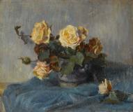 'Bouquet de roses' was painted by budding artist Gauguin as his career as a Parisian stock broker ended.  It will be offered on June 23 at Bonhams London.