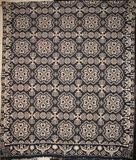 """Hearts"" coverlet woven by British émigré James Alexander (1842)."
