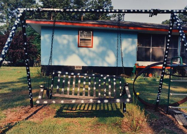 Louise Parsons (American, born 1950), Polka Dot Swing, Ellerbe Heights, South Carolina, 1993, chromogenic development print, Collection of Joslyn Art Museum, Omaha, NE, Gift of Bruce Berman and Lea Russo, 2016