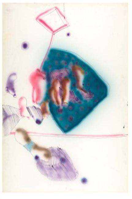 John Altoon, ABS-082 - A, 1965, ink and airbrush on paper, 60 x 40 inches Photo © Museum Associates/LACMA