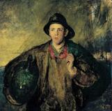 "Charles W.  Hawthorne (1872–1930).  ""The Fisher Boy"", 1908.  Oil on canvas on board, 39 1/8 x 39 1/8 in.  New Britain Museum of American Art, John Butler Talcott Fund (1912.02)"