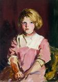 Girl In Pink (Annie Lavelle) Robert Henri, Girl In Pink (Annie Lavelle), 1928.  Oil on Canvas.  Mount Holyoke College Art Museum, Gift of Mr.and Mrs.  Roy R.  Neuberger.