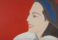 Alex Katz, b.  1927 The Red Smile, 1963.  Oil on canvas, 78 7/8 x 115in.  (200.3 x 292.1 cm).  Whitney Museum of American Art, New York; purchase, with funds from the Painting and Sculpture Committee 83.3 Art © Alex Katz / Licensed by VAGA, New York, N.Y.  Photograph by Bill Orcutt