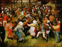 The Wedding Dance a 1566 oil-on-panel painting by the Dutch artist Pieter Bruegel the Elder.  Collection of Detroit Institute of Arts.