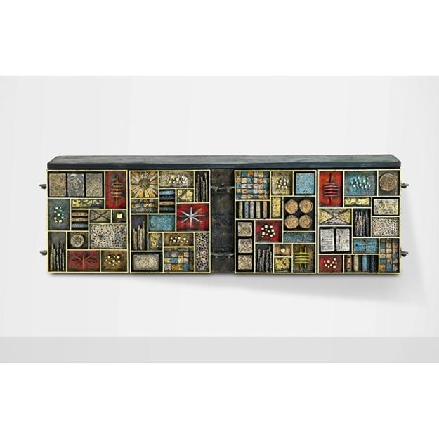 Lot 615, Paul Evans Important Sculpture Front Cabinet, Sold for $219,750