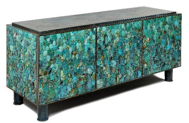 Enfilade en Turquoise, by Kam Tin 2013, 151 x 67 x 50 cm, courtesy of 88-Gallery (Hong Kong)