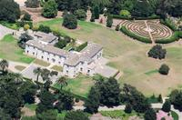 Aerial view of Huguette Clark's Bellosguardo estate