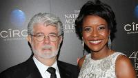 George Lucas and wife, Mellody Hobson.