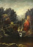 "The largest painting ever to come to auction by Harrison Bird Brown (American, 1831-1915) also set a new global record for the artist.  Titled, ""Picnic by the Falls (White Mountains, Maine), this work achieved $23,800, solidly surpassing its $10,000 to $15,000 estimate."