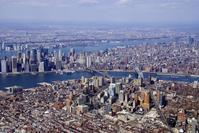AERIAL VIEW OF NEW YORK CITY.