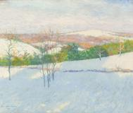 John Leslie Breck (1860–1899) Early Snow, 1894.  Oil on canvas.  18¼ x 22 inches (approx.) Signed and dated lower left: John Leslie Breck / 1894.  Available at Questroyal Fine Art, LLC, New York
