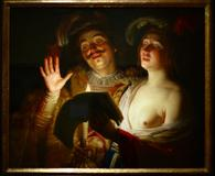 "Gerrit van Honthorst, ""The Duet,"" 1624, sold for $3.37 million on June 5."