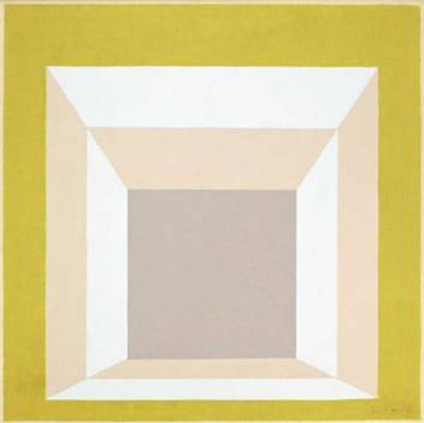 Josef Albers' Study for Homage to the Square brings $262,900 at Heritage Auctions.