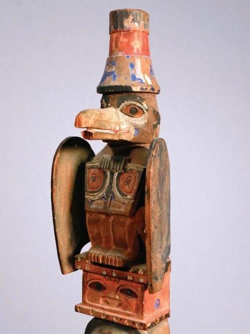 Tlingit Raven Pole, c 1900.  Alaska on Madison