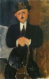 Amedeo Modigliani, Seated Man with a Cane, 1918.