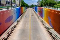 New Orleans artist MOMO completed the Boulevard Tunnel for Living Walls' Concepts 2014.
