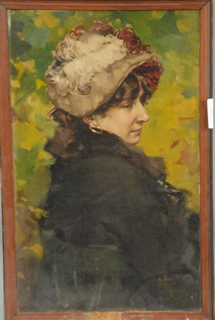 This signed oil on canvas by the Dutch-born painter Frederick Hendrick Kaemmerer, titled Avery, sold for $20,400 at Nadeau's New Year's Day Auction, Jan.  1st.
