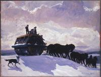 Rockwell Kent, The Road Roller, 1909.  Oil on canvas, 34 1/8 x 44 1/4 in.  The Phillips Collection, Washington, DC.  Acquired 1918.