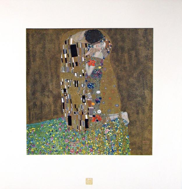 Gustav Klimt, The Kiss (Das Werk Gustav Klimts), 1908-1914 Collotype