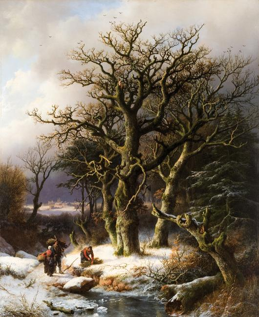Winter landscape by 19th Century Dutch/German artist Barend Cornelis Koekkoek sells for $132,000 at Eldred's Americana + Paintings Auction