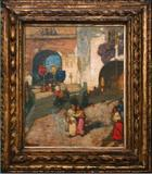 """AUGUSTUS KOOPMAN (American 1869-1914) """"Processional, Chioggia,"""" 1907 oil on canvas, 28 1/2 x 23 5/8 inches"""