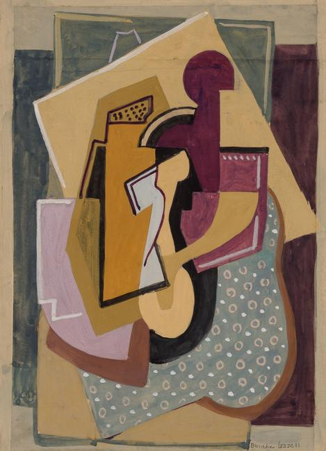 Blanche Lazzell (1878-1956), Abstract Composition No.  6, 1928, Gouache on paper laid to illustration board.  Est.  $8,000-12,000.