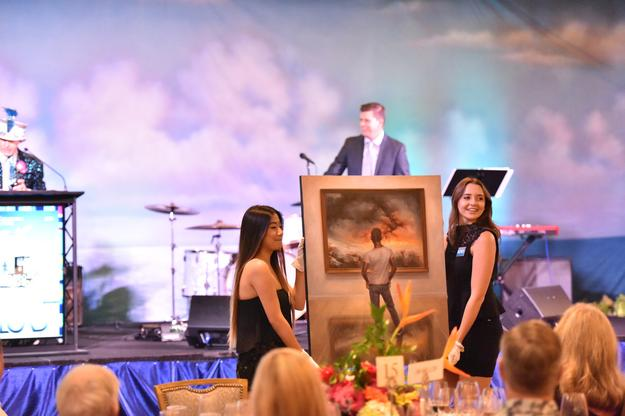 Live auction at LCAD's 26th Annual Collector's Choice raises friendship and funds for scholarships and college.