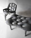 Concrete Chair and Bench Prototypes