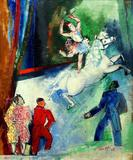 Le Cirque by Jean Dufy.  Oil on canvas, signed 'Jean Dufy 28' (lower right).  25.5 inches x 21 inches from Linda Bernell Gallery.