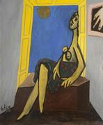 Edgar Levy (1907–1975) Figure in Yellow Window, 1938, Oil on canvas.  Private collection