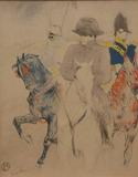 This color lithograph (#20/100) by Henri de Toulouse-Lautrec will be sold at auction July 13th.