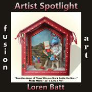 Loren Batt - Fusion Art's 3-Dimensional Artist Spotlight Winner for July 2018 www.fusionartps.com