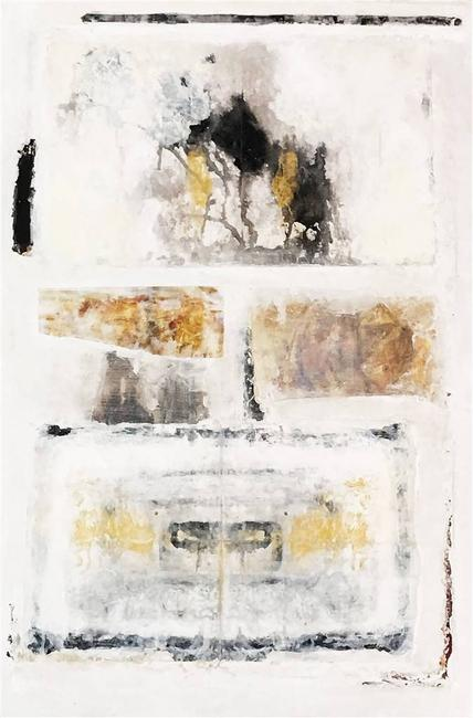 Lorena Becerra,Rorschach Test 2, Mixed Media on Canvas, 35.5'' x 24''