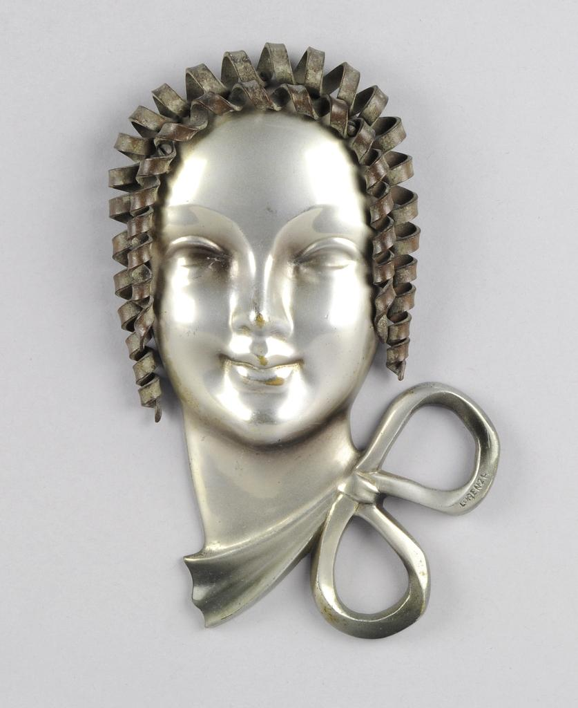 Art Deco bronze mask, from Hickmet Fine Art at Petersfield Antiques Fair