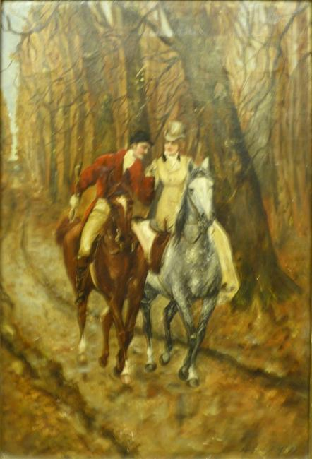 Oil on canvas painting by Heywood Hardy (British, 1842-1933), estimated to bring $8,000-$15,000.