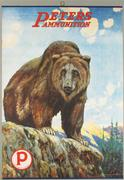 This rare and antique Peters Ammunition poster with bold, imposing bear graphic sold for $12,540 at Showtime Auction Services, April 10-12.