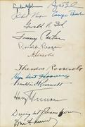 Album with more than 130 Civil War-era signatures, including Abraham Lincoln and his cabinet, and signed by 18 presidents, 1864-2010.  Sold November 1, 2016 for $60,000.