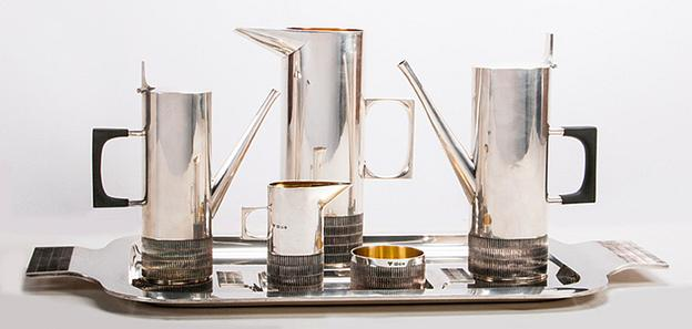 An Alex Styles Seven Piece Coffee and Tea Service, Mid-20th Century
