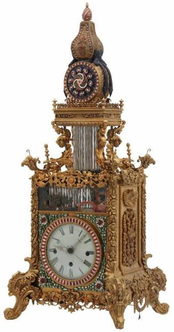 This rare antique Chinese animated triple fusee bracket clock is expected to sell for between $500,000 and $750,000 at Fontaine's Auction Gallery, May 21st.