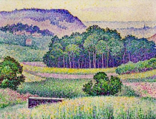 This 1905 pointillist landscape rendering by the German and French artist Jean Metzinger (1883-1956) sold for $177,500 at A.  B.  Levy's on Feb.  19 in Florida.