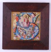 This 15th century watercolor and gouache on vellum painting, titled The Ascension and measuring 10 inches by 10 inches (sight) in a later frame, will be sold May 28-30 in Amesbury, Mass.