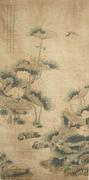 Mandarin Duck in Lotus Pond by Jiang Tingi, Qing Dynasty
