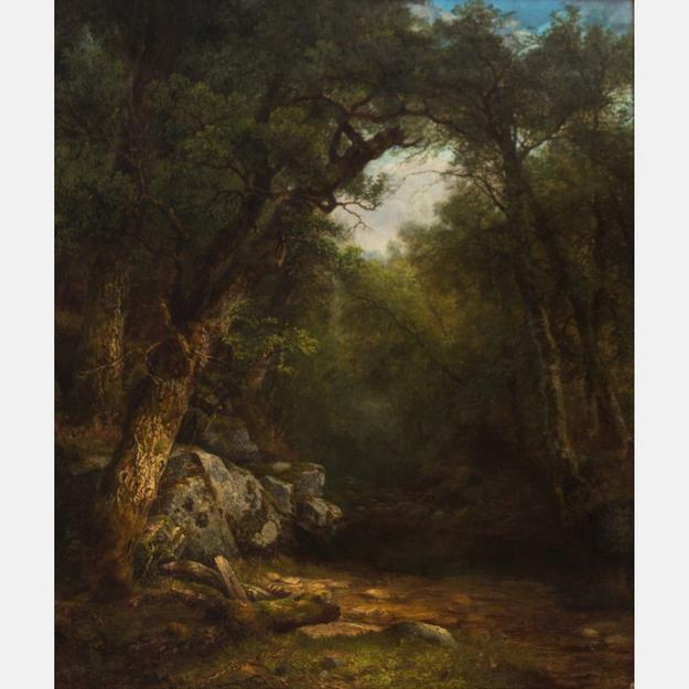Lot 24a- Asher Brown Durand (1796-1886) Butternut Tree, Study from Nature, Lake George, New York, Oil on Canvas