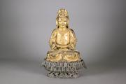 Lot 269: Rare and Important Ming Period Gilt Buddha (High Estimate: $75,000)
