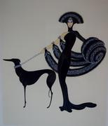 "This signed artist's proof serigraph of the artist Erte's famous image Symphony in Black, from his ""At the Theatre"" suite, is expected to hammer for $400-$1,200."