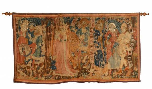 This early 16th century German Gothic tapestry panel finished at $48,380.  It was the top lot at Ahlers & Ogletree's spring estates auction held April 30-May 1 in Atlanta, Georgia.